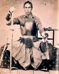 剣道の戦士の古い写真